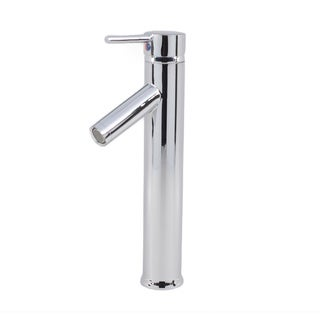 Euro Modern Contemporary Bathroom Lavatory Vanity Vessel Sink Tall Chrome 90-degree Spout Faucet
