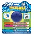 Expo Washable Dry Erase Marker Fine Point Set Assorted 4/Pk w/Eraser