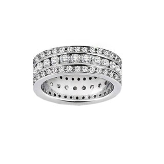 Platinum or 14k/ 18k Gold 2 1/2ct TDW Diamond Multi-row Ring (F-G, SI1-SI2)