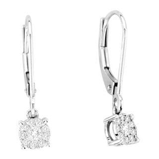De Couer 14k Gold 1/5ct TDW Floating Diamond Leverback Earrings (H-I, I2)