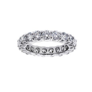 Platinum or 14k/ 18k Gold 3ct TDW Diamond Eternity Wedding Band (F-G, SI1-SI2)