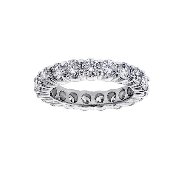 Platinum or 14k/ 18k Gold 3ct TDW Diamond Eternity Wedding Band (F-G, SI1-SI2)