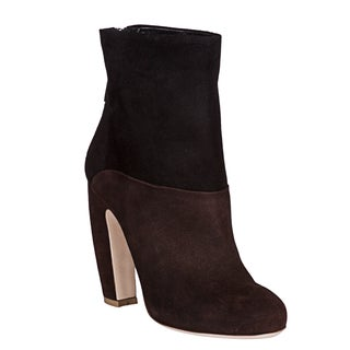 Miu Miu Women's Two-Tone Suede Booties