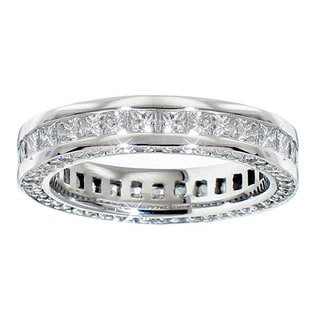 14/ 18k Gold or Platinum 3ct TDW Diamond Eternity Band (F-G, SI1-SI2)