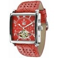 Louis XVI Men's 'La Bastille' Automatic Red Leather Strap Watch