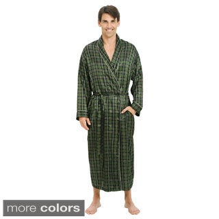 Del Rossa Men's Lightweight Satin Bath Robe