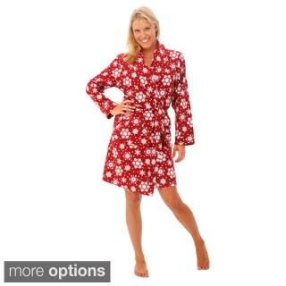 Del Rossa Women's Soft Classic Flannel Robe