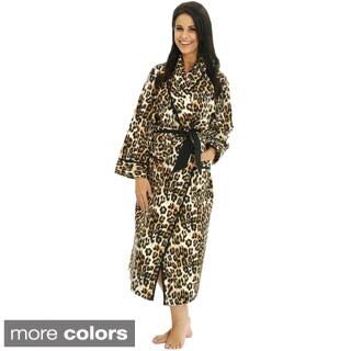 Del Rossa Women's Classic Flannel Bath Robe