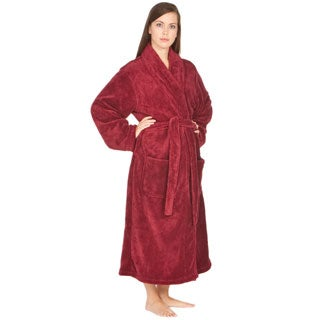 Del Rossa Women's Soft Shawl Collar Fleece Robe