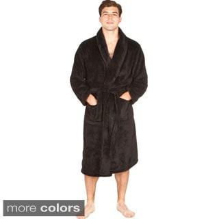 Del Rossa Men's Soft Shawl Collar Fleece Robe