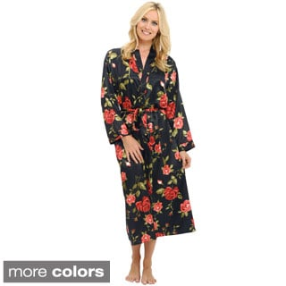 Del Rossa Women's Long Lightweight Satin Robe