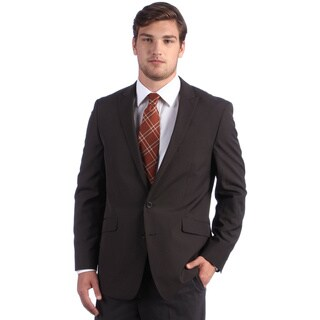 Kenneth Cole Reaction Men's Brown Mini-stripe Suit Separates Coat
