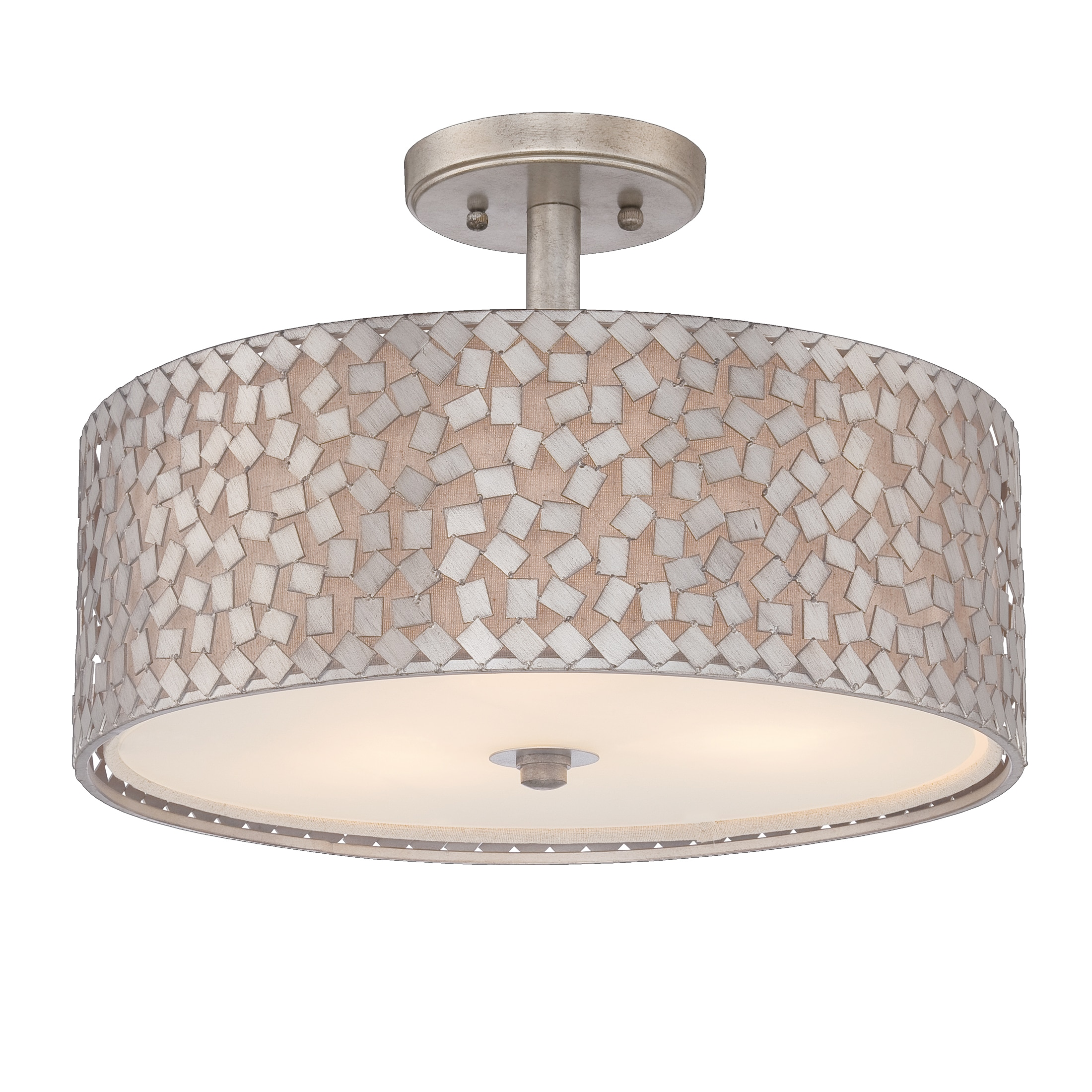 Quoizel 'Confetti' Semi-flush 3-light Mount