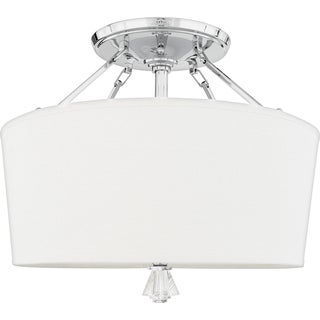 Quiozel 'Deluxe' Semi-flush Mount