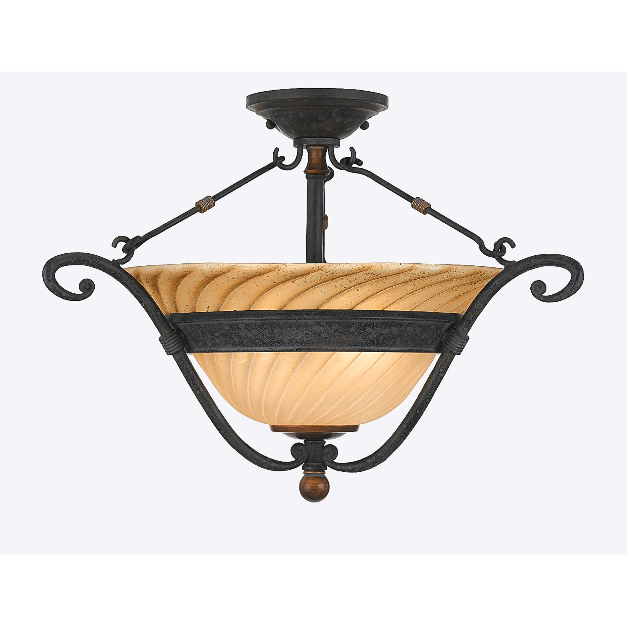 Quoizel 'Genova' Semi-flush Mount