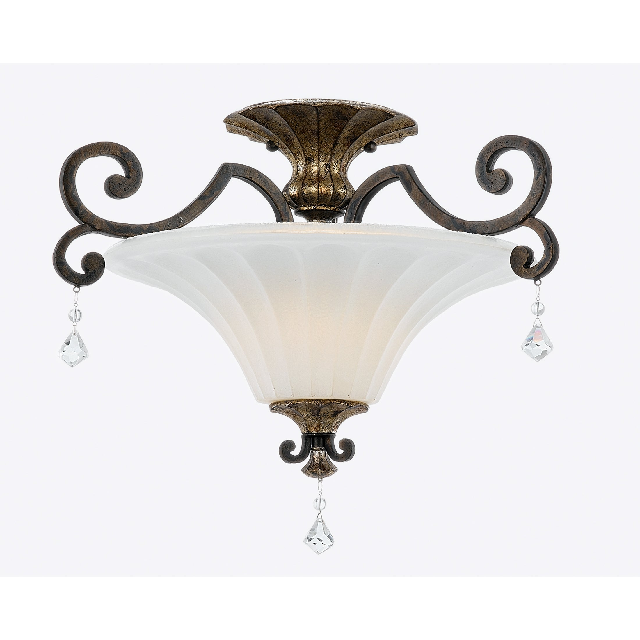Quoizel 'Marquette' 2-light Semi-flush Mount