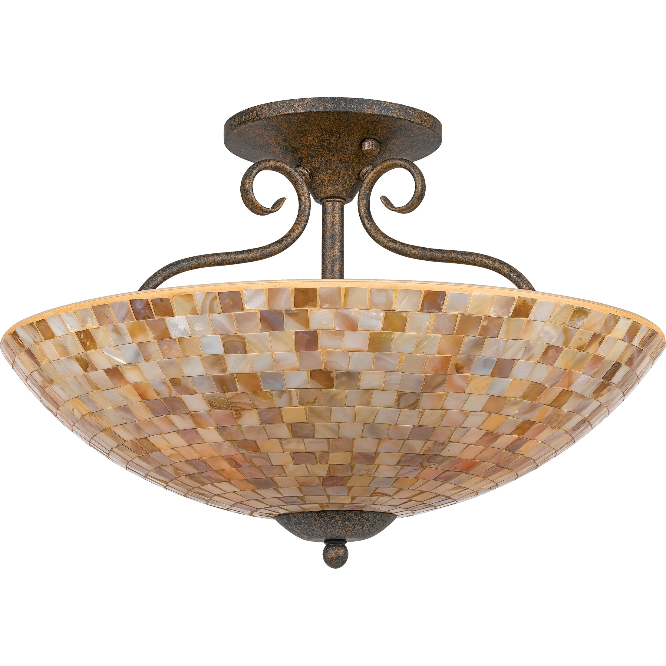 Quoizel 'Monterey Mosaic' 4-light Semi-flush Mount
