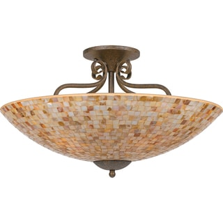 Quoizel 'Monterey Mosaic' 5-light Semi-flush Mount
