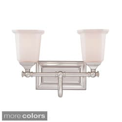 Quoizel 'Nicholas' Two-light Bath Fixture