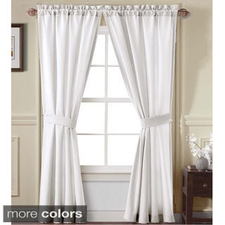 Victoria Classics Carmen Collection Diamond Design 84-inch Curtain Panel Pair