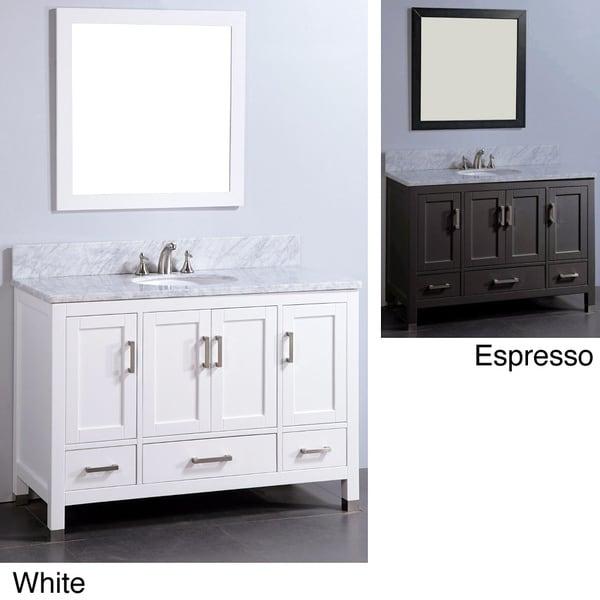 vanity marble top 48 inch single sink bathroom vanity