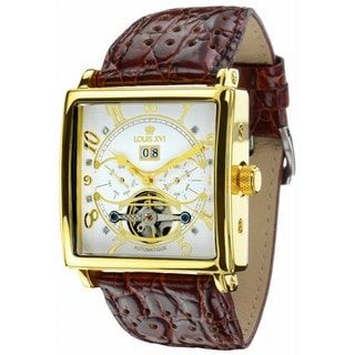 Louis XVI Men's 'La Bastille' Automatic Brown Leather Strap Watch