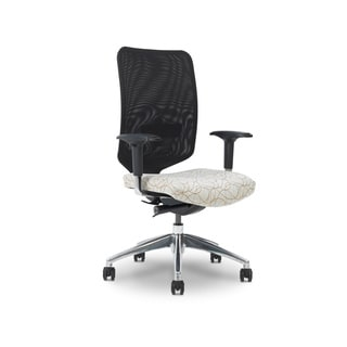 Ergocraft Newair Black Medium Back Task Chair with Chrome Base