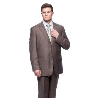 Men's Brown Modern Fit 2-button Suit
