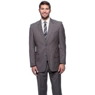 Men's Blue/ Grey Modern Fit 2-button Suit