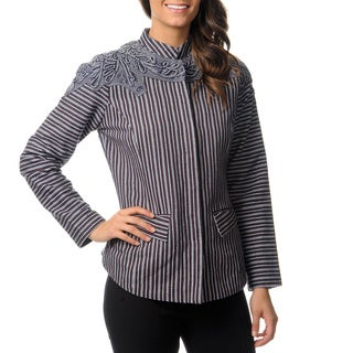 Berek Women's Blue Striped Jacket