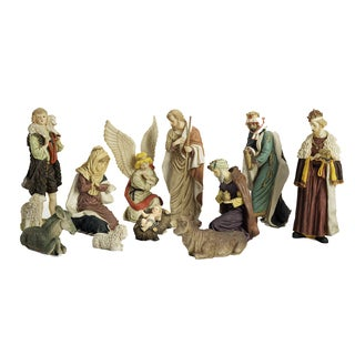 Polyresin Nativity Figurines (Set of 11)