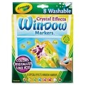 Crayola Washable Window FX Markers Conical Astd Crystalized Colors 8/Set