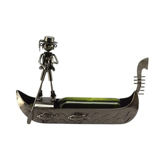 Recycled Metal Gondola Wine Bottle Holder