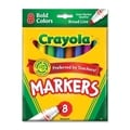Crayola Non-Washable Markers Broad Point Bold Colors 8/Set