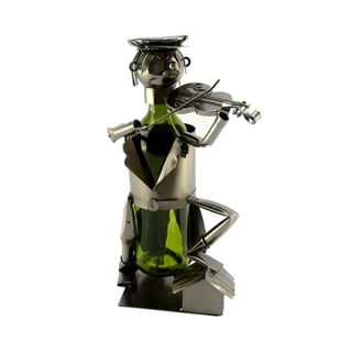 Recycled Metal Fiddler on the Roof Wine Bottle Holder