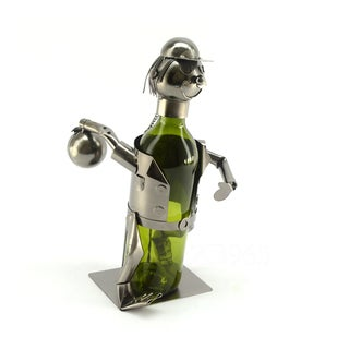 Recycled Metal Bowler Wine Bottle Holder