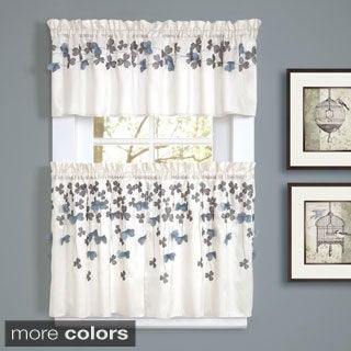 Lush Decor Flower Drops Window Valance