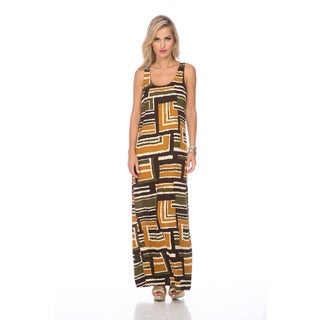 Stanzino Women's Geometrc Print Maxi Dress
