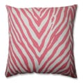 Zebra Spring Pink 16.5-inch Throw Pillow