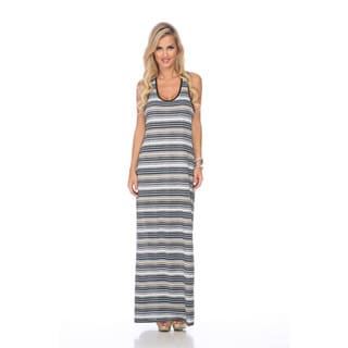 Stanzino Women's Racerback Striped Maxi Dress