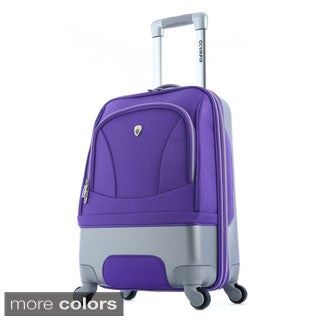 Olympia 'Majestic' 25-inch Hybrid Medium Spinner Upright Suitcase