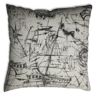 Schooner Ebony 16.5-inch Throw Pillow
