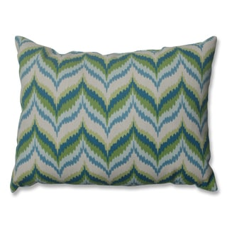 Archer Blue Rectangle Throw Pillow