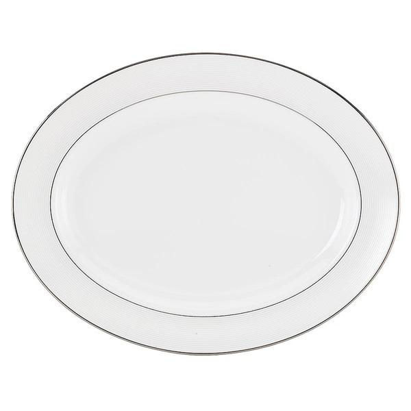 Lenox Opal Innocence Stripe 16-inch Oval Platter