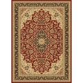 Centennial Red/ Black Traditional Area Rug (5'3 x 7'3)
