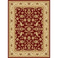 Centennial Red/ Ivory Traditional Area Rug (5'3 x 7'3)
