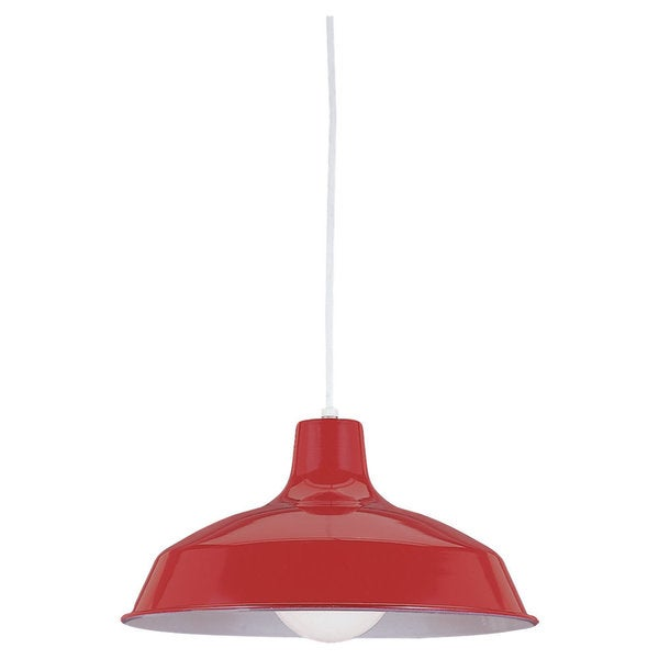 Red 1-light Stem Pendant