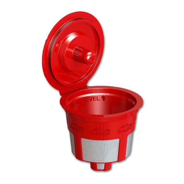 Solofill 10720-01-RED Refillable Single Serve Coffee Filter for Keurig Brewers