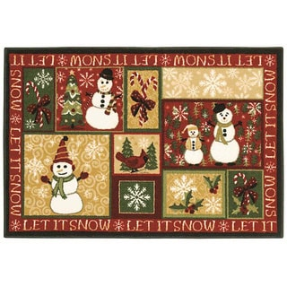 Let it Snow Holiday Accent Rug (2'7 x 3'10)