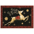 Dashing Through The Night Holiday Accent Rug (2'7 x 3'10)
